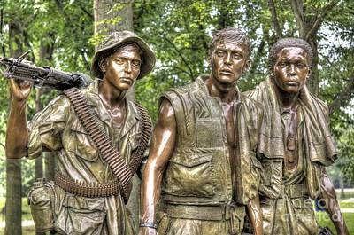 Photograph - Three Soldiers Memorial by Jonathan Harper