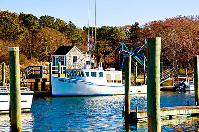 Photograph - Three Sons Harwich Port Cape Cod by Michelle Wiarda-Constantine