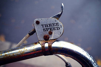 Three Speed Photograph - Three Speed Bicycle by Tanya Harrison