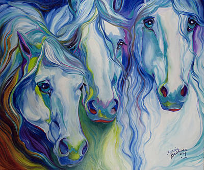 Painting - Three Spirits Equine by Marcia Baldwin