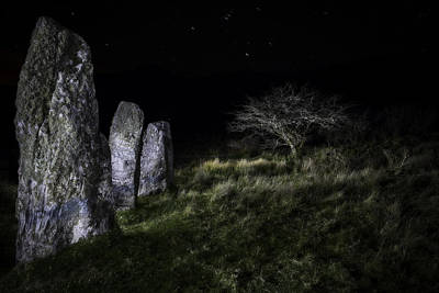 Megalith Photograph - Three Standing Stones by Dirk Ercken
