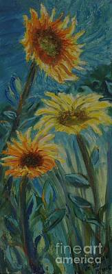 Painting - Three Sunflowers - Sold by Judith Espinoza