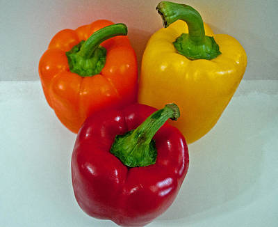 Photograph - Three Sweet Peppers by Tikvah's Hope