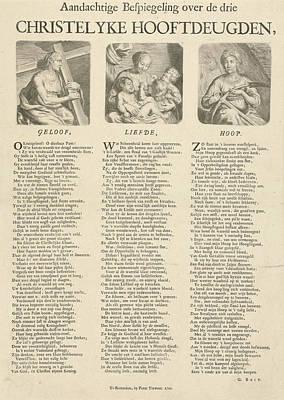 Three Theological Virtues Of Faith, Hope Art Print by Artokoloro
