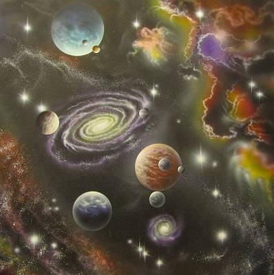 Painting - Three Tier Multiverse by Sam Del Russi
