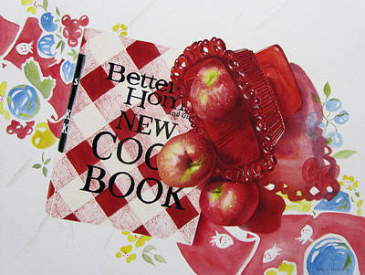Cookbook Painting - Three To Get Ready by Karlyn Holloway