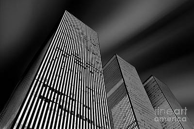 Financial Photograph - Three Towers by Az Jackson
