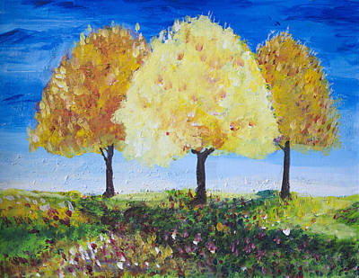 Painting - Three Trees by Richard Fritz