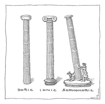 Three Types Of Columns Art Print by John O'Brien