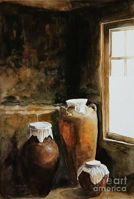 Painting - Three Urns by Carole  DiTerlizzi