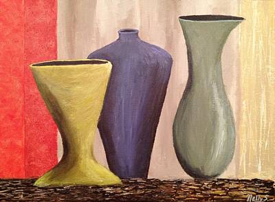 Three Vases Original by Nelly S