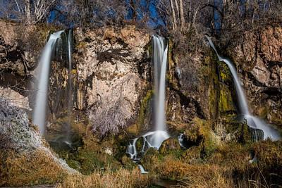 Long Rifle Photograph - Three Waterfalls by Paul Freidlund