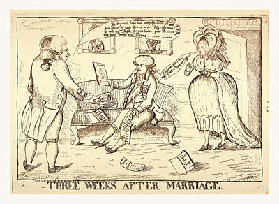 Perdita Drawing - Three Weeks After Marriage, London, 1786, A Man Standing by Litz Collection
