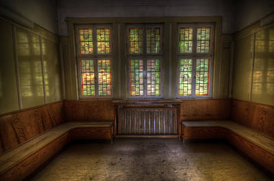 Glass Wall Digital Art - Three Window Waiting  by Nathan Wright