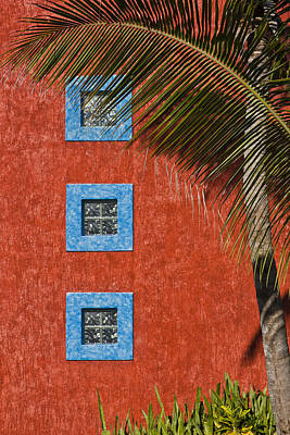 Mexico Photograph - Three Windows by Adam Romanowicz