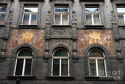 Photograph - Three Windows In Prague by John Rizzuto