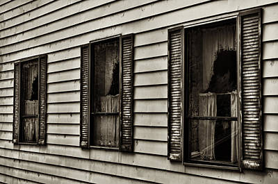 Photograph - Three Windows by Mick Burkey