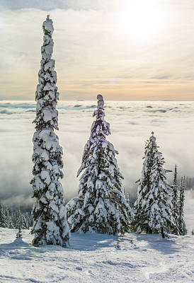 Ski Resort Photograph - Three Wise Men by Aaron Aldrich