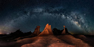 Milky Way Wall Art - Photograph - Three Wise Men by Hua Zhu