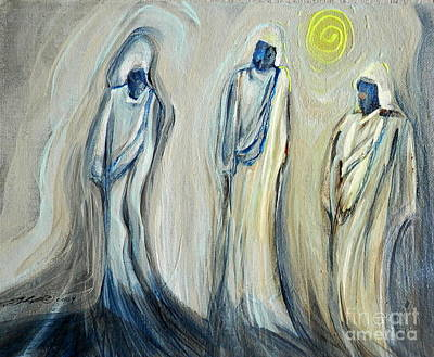 Painting - Three Wise Men by L Cecka