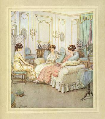 Three Women Print by British Library