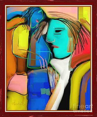 Three Women Conversing Art Print by Nedunseralathan R