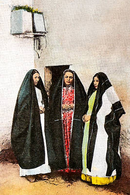 Photograph - Three Women From Nazareth by Munir Alawi