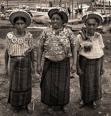 Panajachel Photograph - Three Women In Atitlan by RicardMN Photography