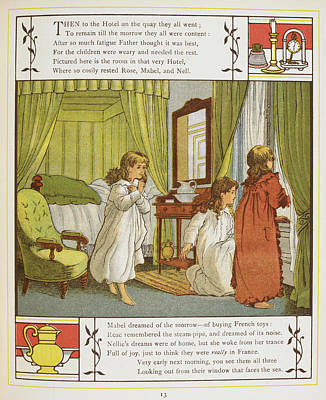 Abroad Photograph - Three Young Girls In Their Bedroom by British Library