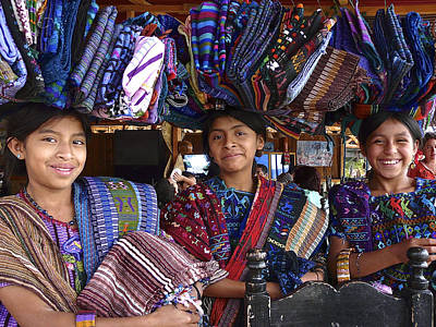 Hand-weaving Photograph - Three Young Girls Posing For A Shot by Eye Browses