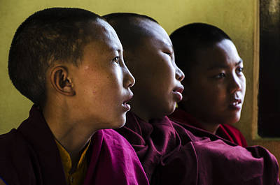 Photograph - Three Young Monks by Valerie Rosen