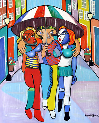 Crowds Digital Art - Threes A Crowd By Anthony Falbo                                          by Anthony Falbo