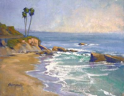 Heisler Park Painting - Three's Company by Sharon Weaver