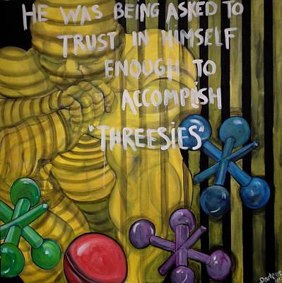 Trush Painting - Threesies by Darlene Graeser