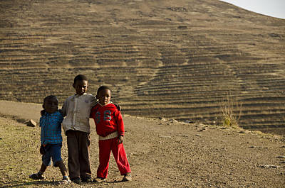 Lesotho Photograph - Threesome by Aaron Bedell