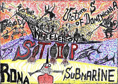 Threnody To The Victims Of Dominicana . Contro La Pedofilia A Chiesa Sancta. Der Zorn Gottes. Art Print by  Andrzej Goszcz