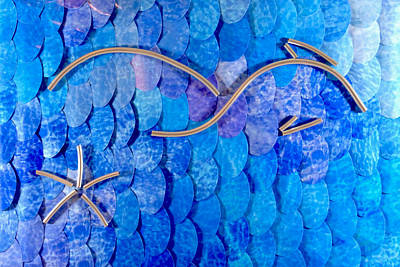 Abstract Shapes Janice Austin - Thresher Shark Profile by Chuck Worth