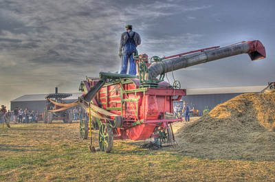 Threshing At Rollag Art Print