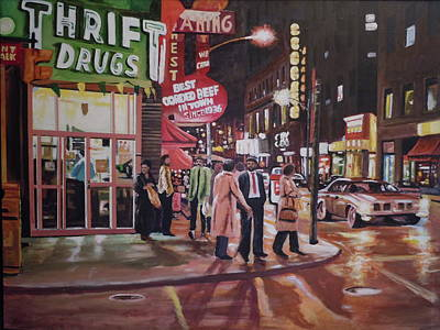 Painting - Thrift Drugs by James Guentner