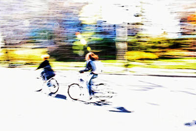 Cycles Painting - Thrill Of Riding - Living Life To The Fullest by Nishanth Gopinathan