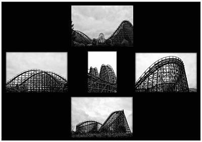 Rollercoaster Digital Art - Thrill Ride by Bill Cannon