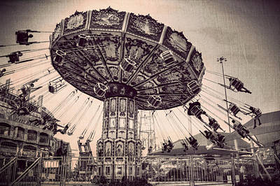 Thrill Rides Art Print
