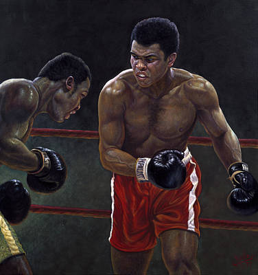 Thrilla In Manilla Art Print by Gregory Perillo