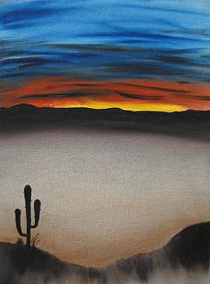 Wet On Wet Painting - Thriving In The Desert by Sayali Mahajan
