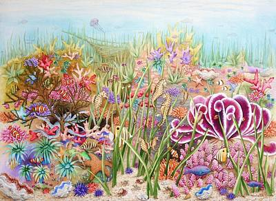 Painting - Thriving Ocean  by Katherine Young-Beck