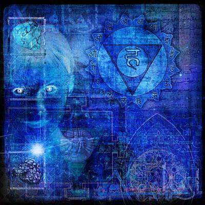 New Mind Digital Art - Throat Chakra by Mark Preston