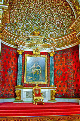 Catherine Palace In Russia Photograph - Throne In Hermitage In Saint Petersburg-russia by Ruth Hager
