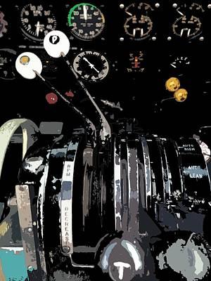 Throttles Art Print by Julio Lopez