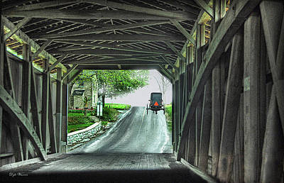 Photograph - Through A Covered Bridge by Dyle   Warren
