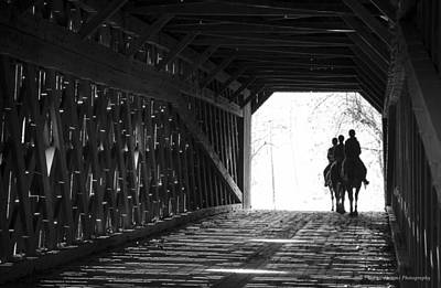 Art Print featuring the photograph Through A Covered Bridge by Phil Abrams